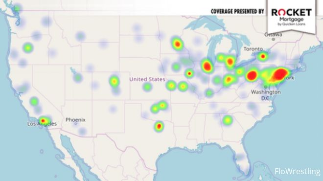 New Jersey, Ohio & Pennsylvania Glow Red Hot In Our NCAA Champs Heat Map