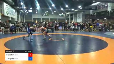 57 kg Prelims - Troy Spratley, Texas Pride Wrestling Club vs Cael Hughes, Cowboy Wrestling Club