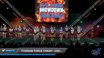 Titanium Force Cheer - Code Black [2020 L4 Senior - Medium Day 1] 2020 GLCC: The Showdown Grand Nationals