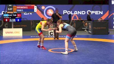 59 kg Bronze - Diana Kayumova, KAZ vs Elif Yanik, TUR