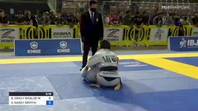 BRUNA DRIELY RICALDE MACIEL vs VANNESSA NANCY GRIFFIN 2021 Pan Jiu-Jitsu IBJJF Championship