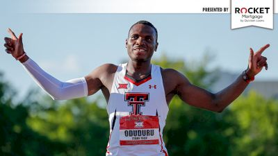 Archive Race + Here's The Deal: Big 12 Outdoors - Divine Oduduru Runs 9.99