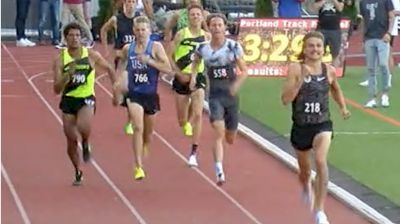 High Performance Men's 1500m, Heat 1 - NOP's Craig Engels 3:35!