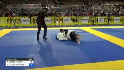AYDEN JAMES FLEMING vs MICHAEL JAMES DUNCAN 2021 Pan Kids Jiu-Jitsu IBJJF Championship