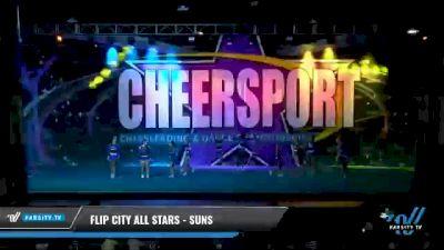 Flip City All Stars - Suns [2021 L3 Junior - Small - B Day 1] 2021 CHEERSPORT National Cheerleading Championship