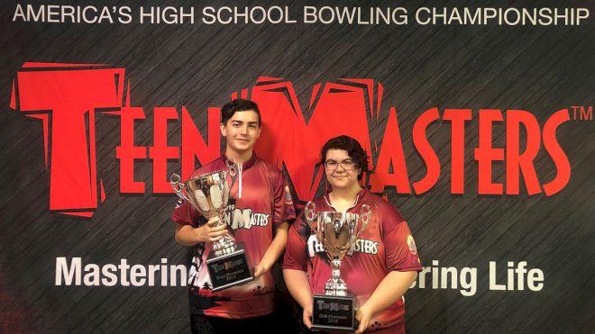 Salinas, Diem Hoist Teen Masters Trophies