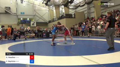 70 kg Round Of 32 - AC Headlee, Tar Heel Wrestling Club vs Zemua Baptista, Nebraska