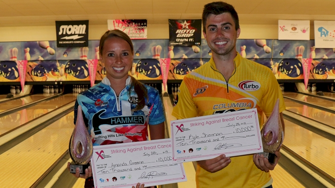 picture of 2021 Storm PBA/PWBA Striking Against Breast Cancer Mixed Doubles