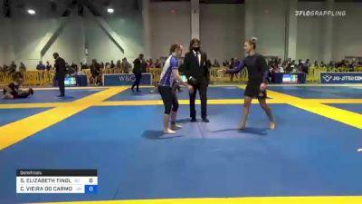 SYDNEY ELIZABETH TINGLER vs CAROLINA VIEIRA DO CARMO MASSOT 2021 American National IBJJF Jiu-Jitsu Championship