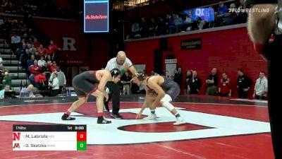 174 lbs Quarterfinal - Mikey Labriola, Nebraska vs Devin Skatzka, Minnesota