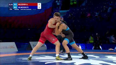97 kg Final - Aleksei Mileshin, Russia vs Pavel Hlinchuk, Belarus