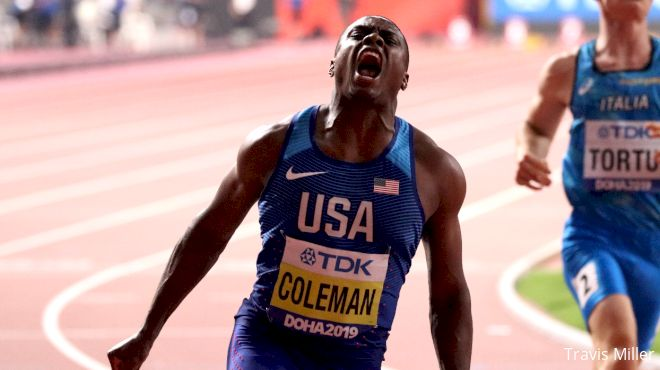 Christian Coleman Delivers 100m Gold Under The Bright Lights In Doha