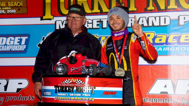 Kyle Larson Logs 3rd Turkey Night Win
