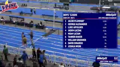 High School Boys' 3200m Class 5, Finals 1