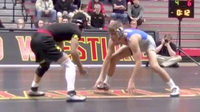 133lbs match - Micky Phillippi, Pitt vs King Sandoval, Maryland