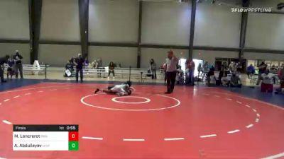 100 lbs Final - Miranda Lencrerot, The Glasgow Wrestling Academy vs Abdulla Abdullayev, Level Up