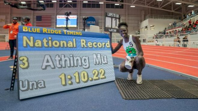 Athing Mu Adds To Legacy With 500m National Record At VA Showcase