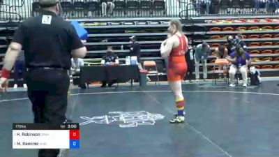 170 lbs Quarterfinal - Hunter Robinson, Grand View vs Mahealani Ramirez, Missouri Valley