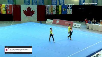 K. Diana / M. Hendershot - Pair, Oakville Gymnastics Club - 2019 Canadian Gymnastics Championships - Acro