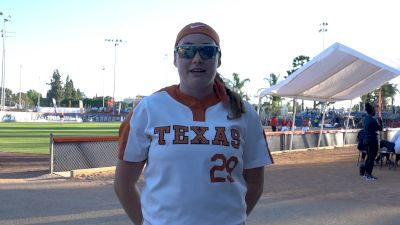 Texas Shea O'Leary Postgame Interview vs Michigan