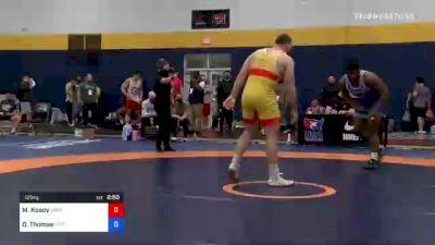 125 kg 3rd Place - Michael Kosoy, Oregon vs Demertius Thomas, Pittsburgh Wrestling Club