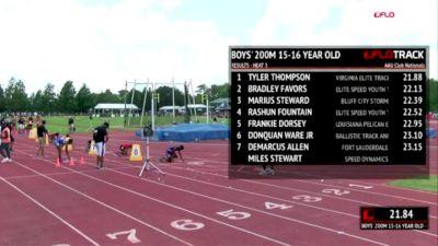 2018 AAU Club Nationals Highlight: 17-18yo Semira Killebrew 23.95 200m
