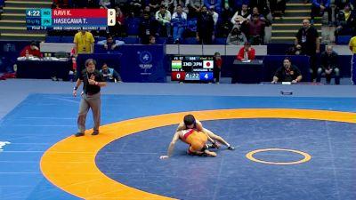 Gold 57kg - Ravi Kumar (IND) vs Toshihiro Hasegawa (JPN)