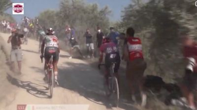 Is This Fan Behavior At Strade Bianche COVID-Safe?