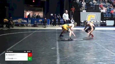 157 lbs 7th Place - Michael Vanbrill, Rutgers vs Jared Franek, North Dakota State