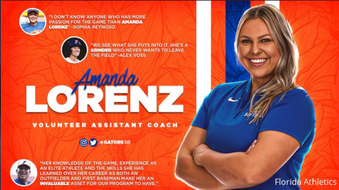 Amanda Lorenz Joins Florida Coaching Staff As Volunteer Assistant