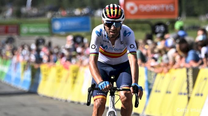 picture of Alejandro Valverde Vuelta a Espana 2020