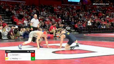 125 lbs Quarterfinal - Justin Cardani, Illinois vs Jack Medley, Michigan