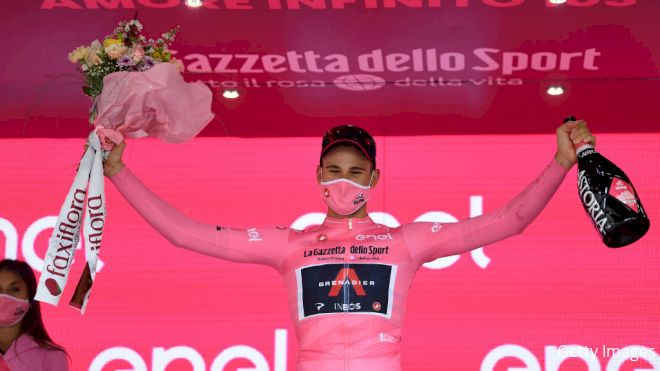 Ganna Ends First Giro d'Italia Stage In Lead