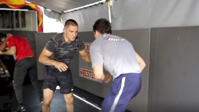Aaron Pico Sparring On The Wrestling Mat