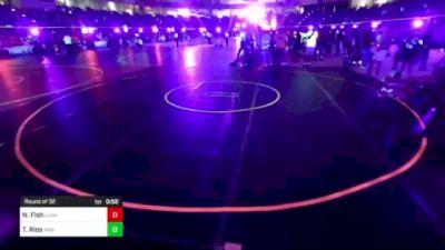 109 lbs Round Of 32 - Nathan Fish, Lusk Rawhide Wrestling vs Tristan Rios, War