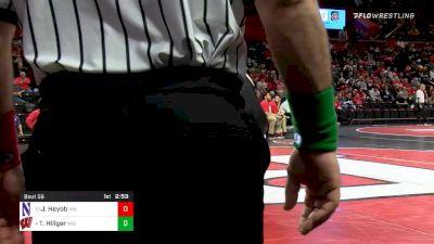 285 lbs Prelims - Trent Hillger, Wisconsin vs Jack Heyob, Northwestern
