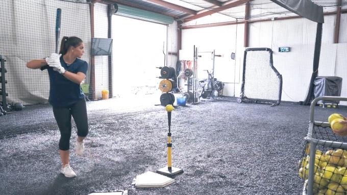 One-Legged Hitting Drill