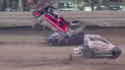 T-Mez Heat Race Flip | USAC Midgets Saturday at Merced