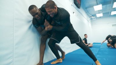 Andre Galvao Grapples With UFC Champion Israel Adesanya at Atos Jiu-Jitsu