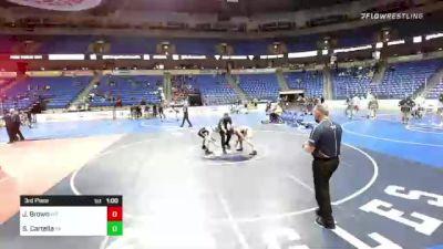 126 lbs 3rd Place - Joel Brown, Maryland vs Sam Cartella, Pennsylvania