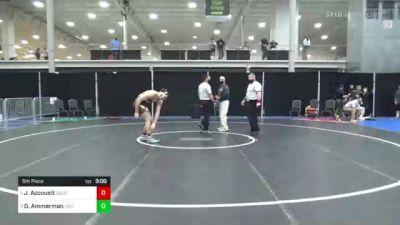 184 lbs 5th Place - Joe Accousti, Sacred Heart vs Dylan Ammerman, Lehigh