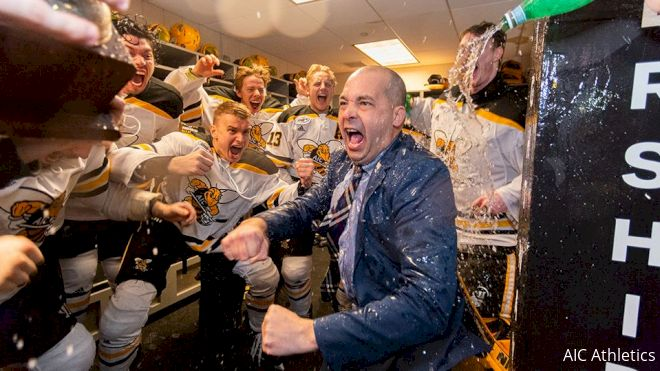 AIC Head Coach Eric Lang Discusses The Rise Of Yellow Jackets Hockey