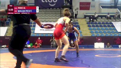 50 kg Quarterfinal - Madison Bianca Parks, Canada vs Thalia Jihann Mallqui Peche, Peru