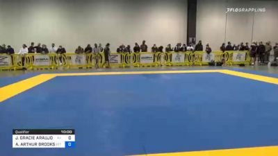 JONNATAS GRACIE ARAUJO DA SILVA vs AVERY-WARREN ARTHUR BROOKS 2020 IBJJF Pan No-Gi Championship