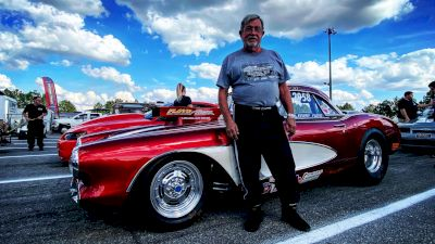 Kenny Floyd Shows Off His '58 Corvette At Lights Out 12