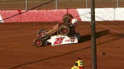 Steve Buckwalter Heat Race Flip | 410 Sprints at Lincoln Speedway