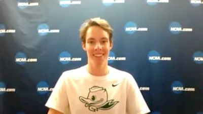 Oregon's Cooper Teare After Winning The NCAA DMR Title