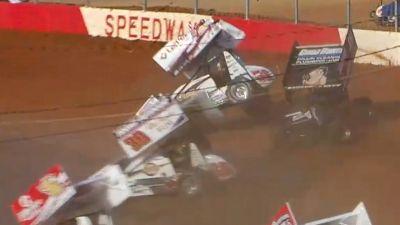Freddie Rahmer Feature Flip | 410 Sprints at Lincoln Speedway