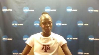 Texas A&M's Athing Mu After Her 49 Sec 4x4 Split