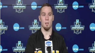 Spencer Lee (Iowa) after winning the 2021 NCAA Championships at 125 pounds